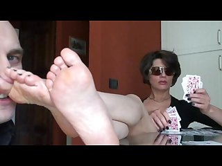 Stinky mature foot smelling