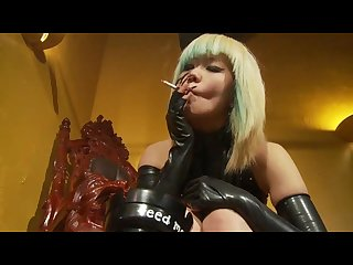 Vs120 smoking asian mistress talented smoker and mistress