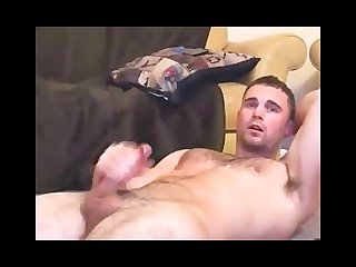 Straight hunk gives private show