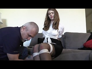 Christy requests to be tied by her mom s boyfriend