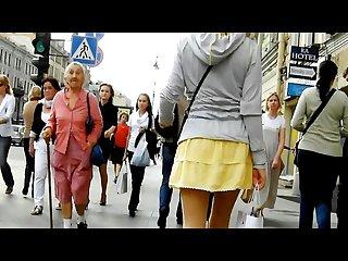 Public Upskirt in moscu