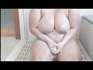 Horny Futanari cums in the shower shemale Futanari roleplay