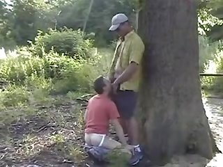 Arabian gay Cruising fucks french boy outdoor in forest