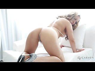 Carmen valentina masturbates in her hotel room