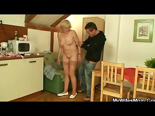 Porn loving mother in law takes his dick