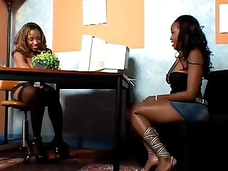 Ayana angel and angel eyes explore each other s pussies