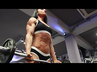 Muscle girl training