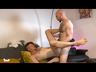 Kieron shoves his thick cock deep into Orson\'s tight hole
