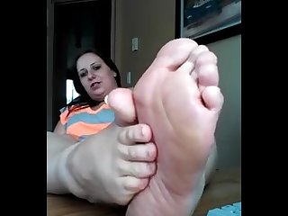 Bbw sweaty soles toe spread