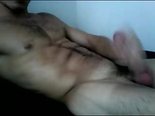 Str8 hairy hung uncut muscle stud gets off big