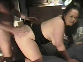 Sexy chubby white wife has good hard sex with her husband and his mate