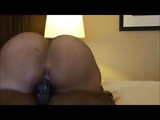 Big booty latin bbw goddess naughtia rides a bbc