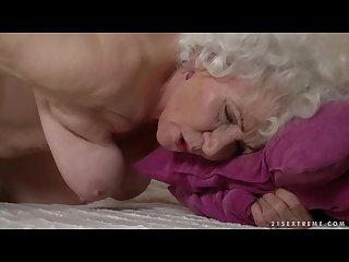 Grandma porn star norma fucking a young man 2