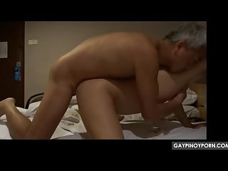 Hot asian old and young couple fuck right in the ass 2