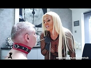 Mistress Lucy Zara whips and ruins her old slave in last bondage session