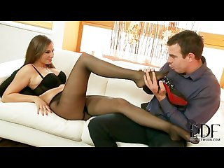 Connie carter in black pantyhose