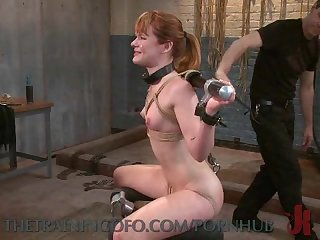 Chained and handcuffed