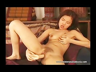 Wet sexy asian hairy pussy