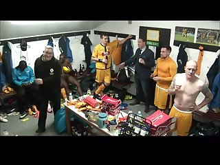 Pro English footballers filmed naked in the locker room after match