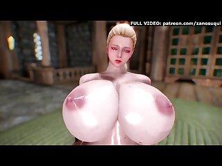 Big tits blonde futanari 3d hentai