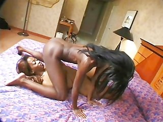 Two hot brunettes play with all theyve got