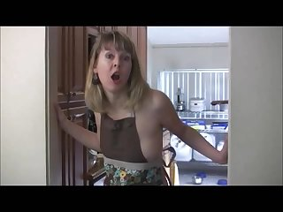 Stepmom in kitchen joi