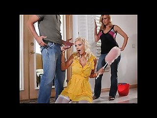 Sexy blonde maid brittany andrews fucks her boss s husband