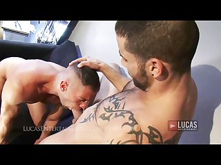 Tanned gym jock and hot Arab fuck and suck