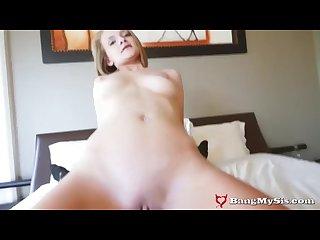 Big Bro Sees Cute Step-Sis Smoking & Fucks Her Pussy To Keep Quiet