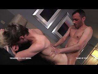 Alex Killborn takes 3 huge cocks at once