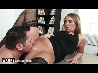 Wankz office hottie will do anything for raise