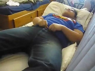 Young chubby boy cumshot