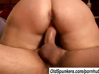 Beautiful mature blonde molly gives a sloppy rimjob