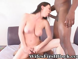 Brunette wifey s 1st black encounter