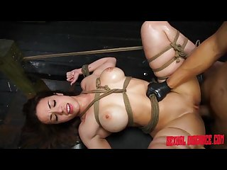 Kylie rogue tied up blowjob fucking machine and facial