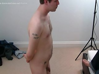 Steve s 1st time being dominated nervous boi has to strip