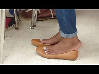 My friend s candid shoeplay in school