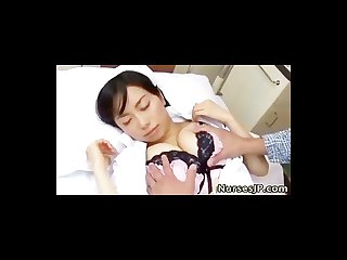 Sleeping asian nurse