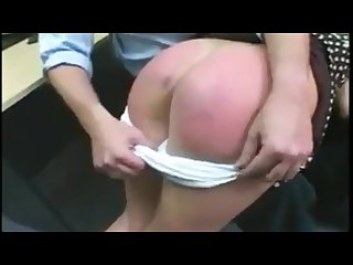 Teacher spanks girl hard