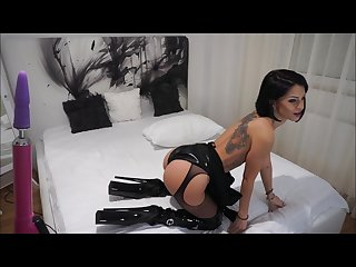 Anisyia livejasmin latex extreme highheels boots buttpluged and fucked