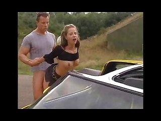 Tyra misoux ein sommertagstraum sexy babe in slick car