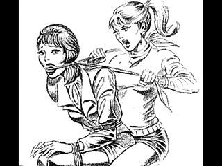 Girl vs girl Catfight tribbing bondage spanking lesbians