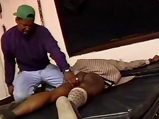 Black dude tied up bdsm spanking