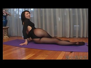 Asion pantyhose workout 0