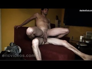 Ricky gets plowed and filled up by David S dick