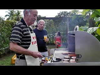 Blue pill men old men have a cookout with teen stripper jeleana marie