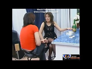 Aunt teasing him with her sexy dress www vintagepornbay com