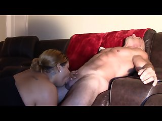 Sucking my Step Daddy\'s Dick - Interracial