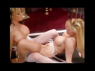 Sexy hot lesbian pantyhose foot play