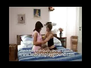 Softcore lesbo aciton on the bed